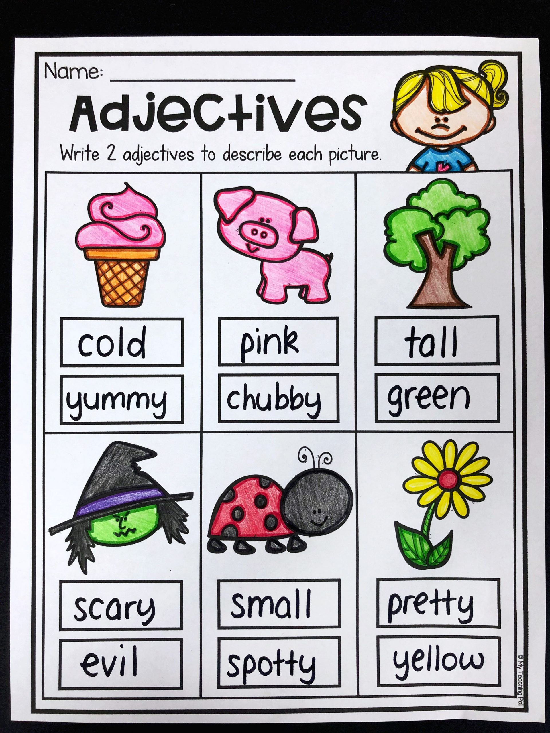 Grammar Worksheet 1st Grade Grammar Worksheet Packet Nouns Adjectives and Verbs