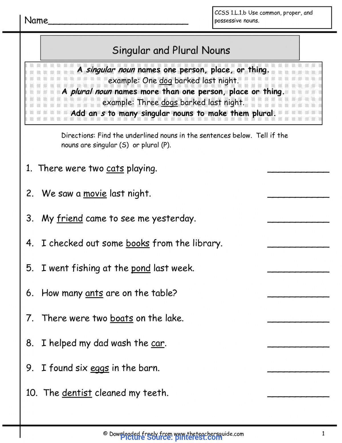 Grammar Worksheet First Grade Fresh 1st Grade Grammar Lesson Plans Grammar Worksheets 3rd