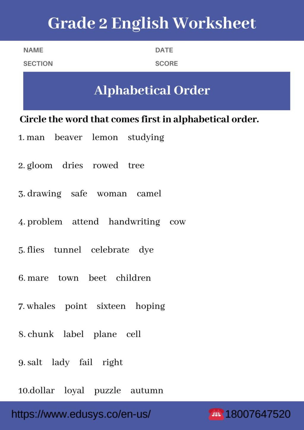 Grammar Worksheet First Grade Worksheet Freeable 2nd Grade Grammar Worksheets Reading