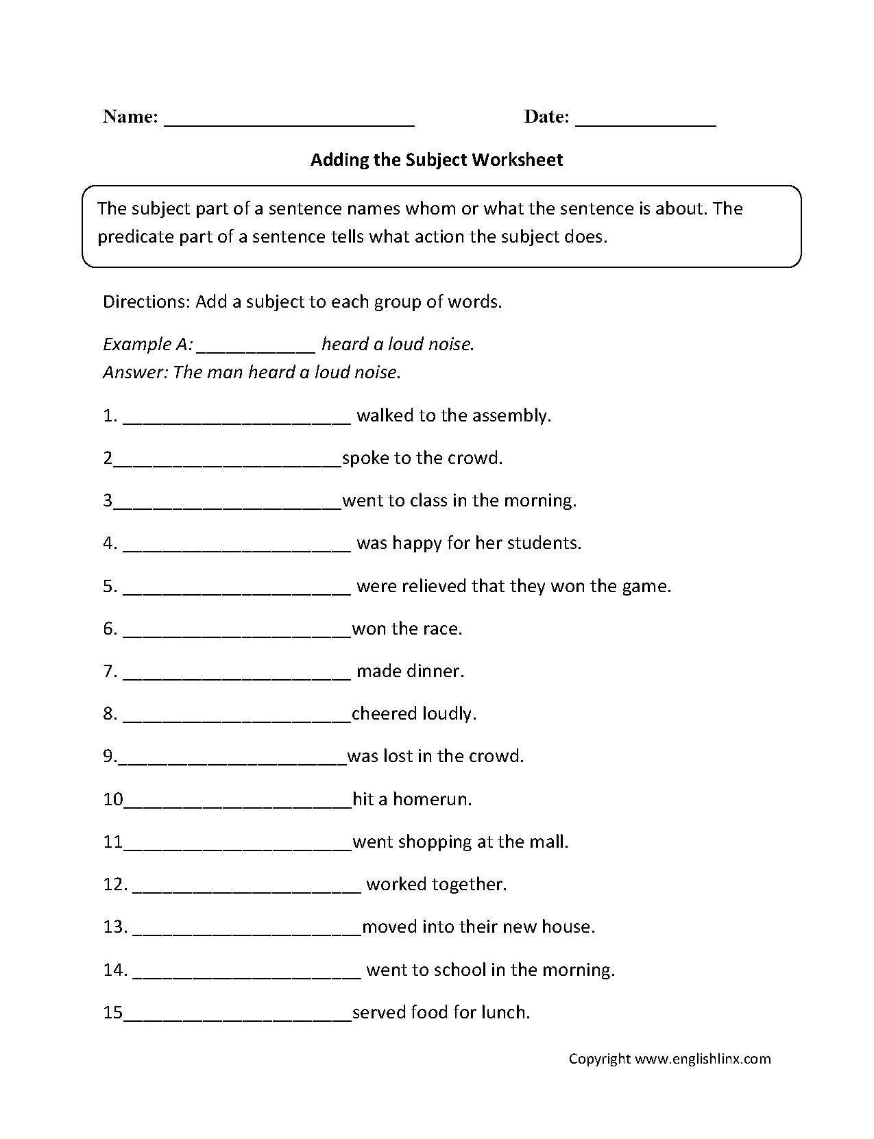 Grammar Worksheets High School Ks2 Skeleton Worksheet