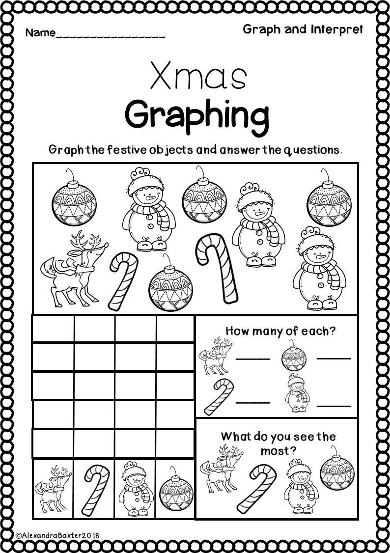 Graphing Worksheets for First Grade Christmas Math Worksheets for First Grade Free 1st Linear