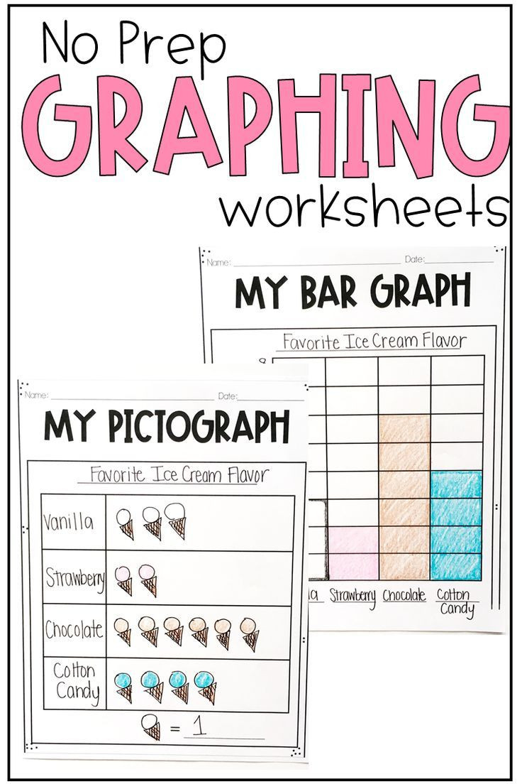 Graphing Worksheets for First Grade Graphs and Data Worksheets