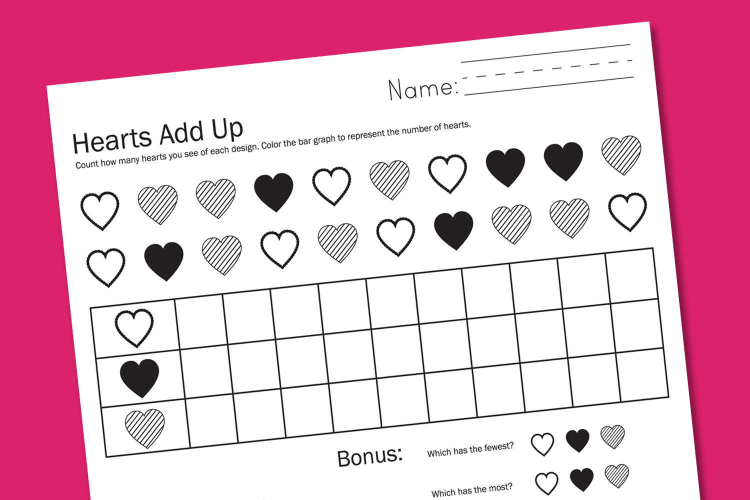 Graphing Worksheets for First Grade Valentine Worksheets Paging Supermom