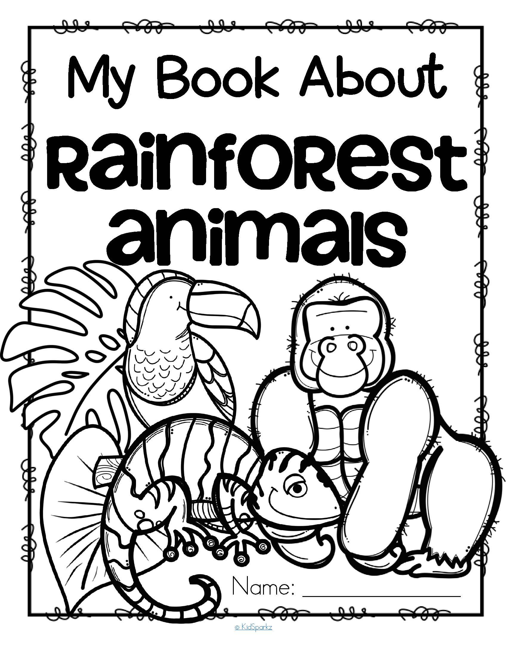 Hibernation Worksheet for Preschool Coloring Book Rainforest Coloring Sheets Preschool