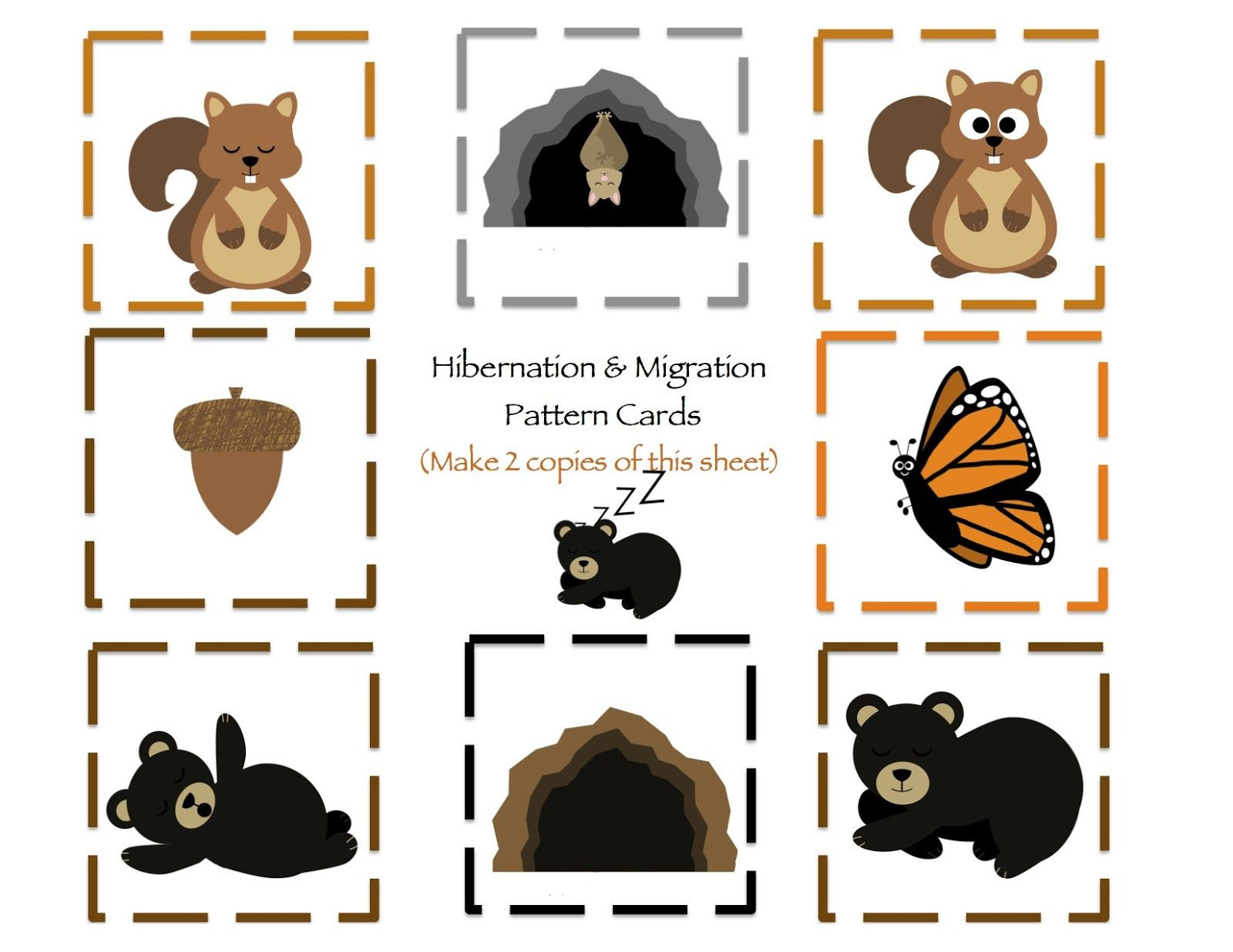 Hibernation Worksheets for Preschool Hibernation & Migration Printable Preschool Printables