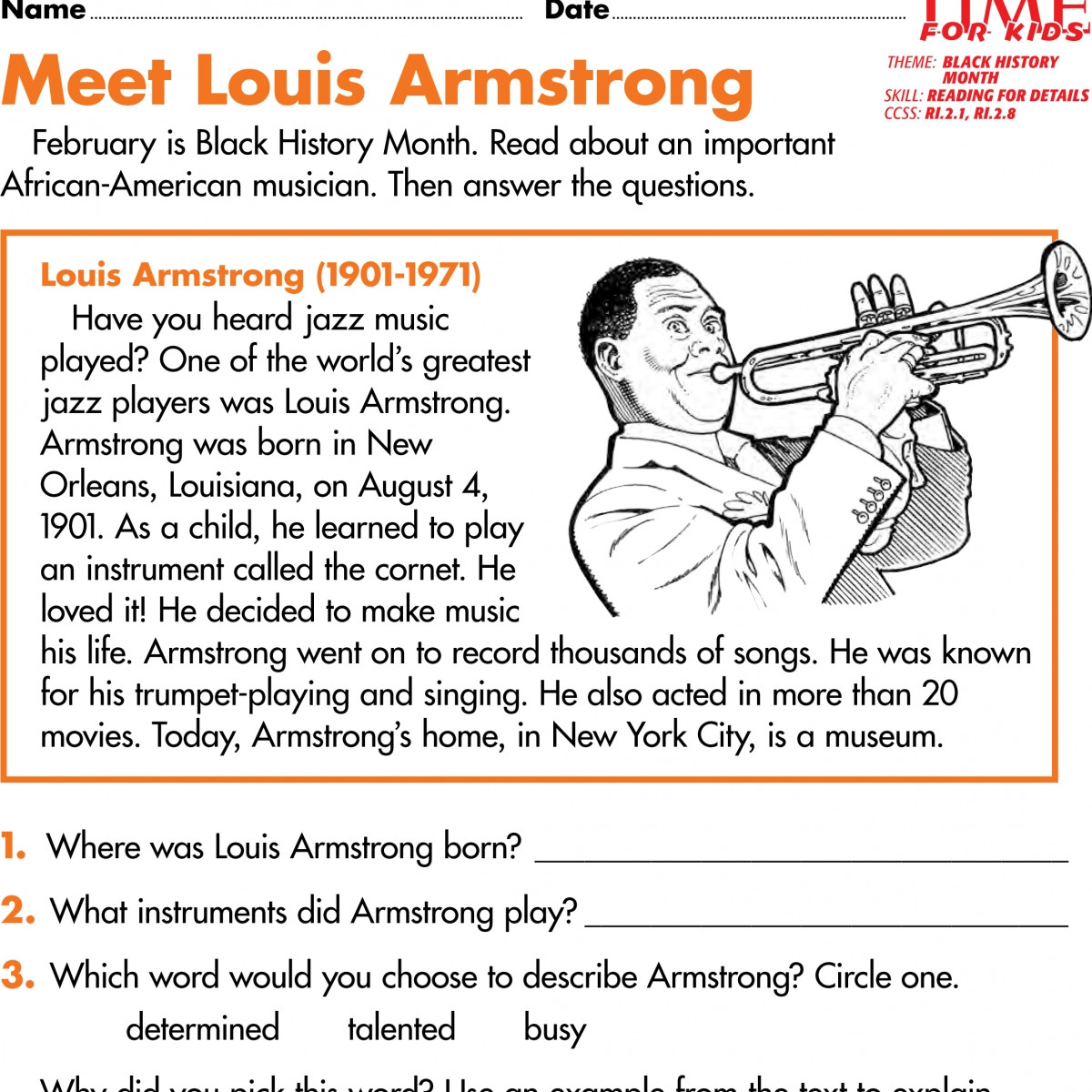 History Worksheets for 2nd Grade Black History Worksheets