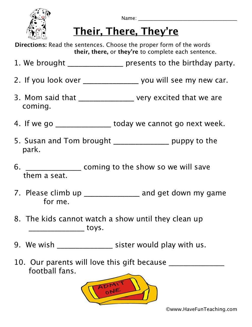 Homonyms Worksheets 5th Grade Homophones Worksheet 5th Grade In 2020