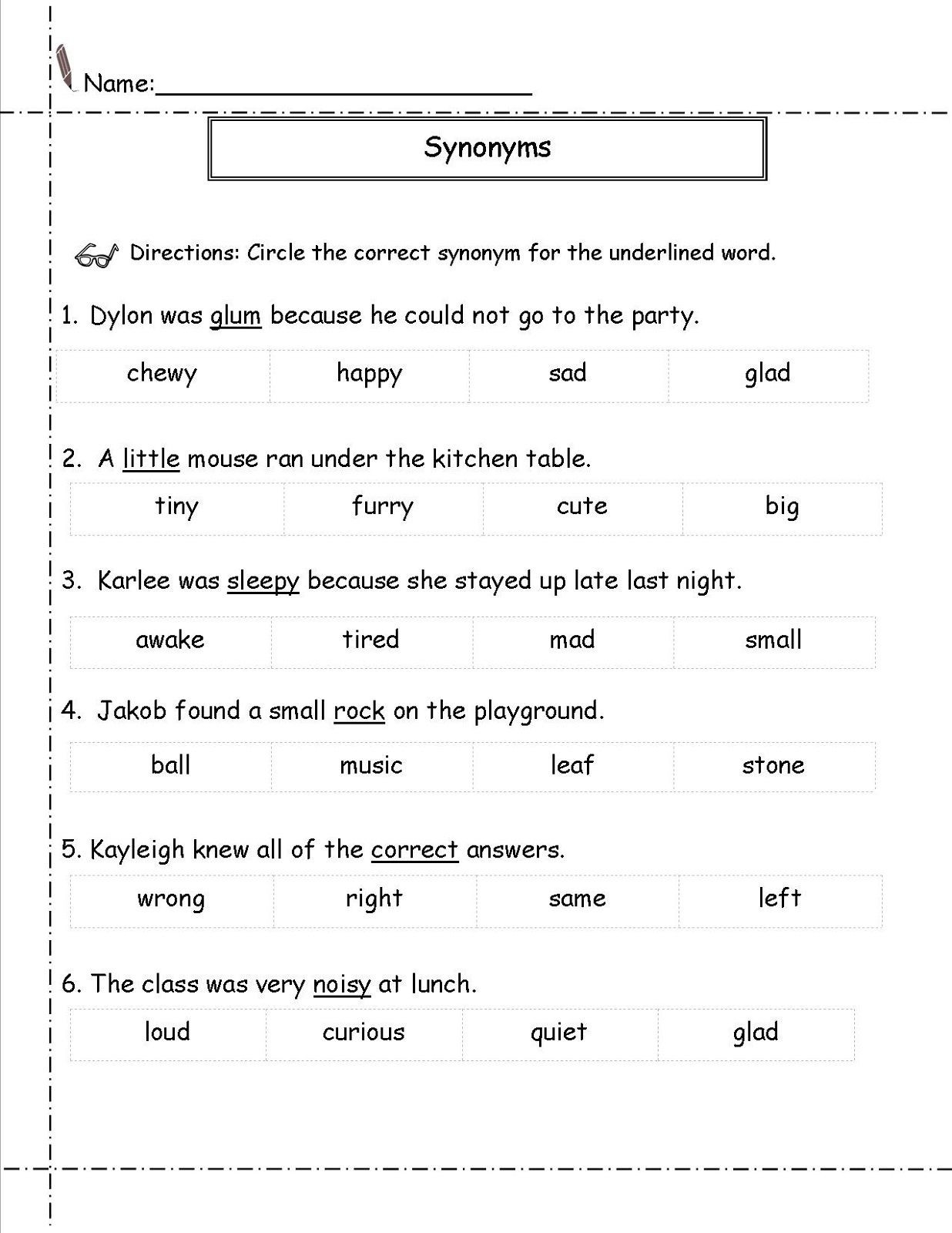 Homophones Worksheet 5th Grade Second Grade Worksheets Synonym