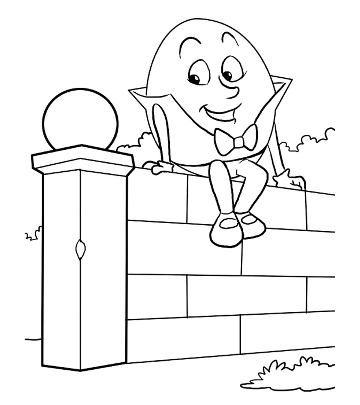 Humpty Dumpty Printable Book 10 Adorable Humpty Dumpty Coloring Pages for toddlers