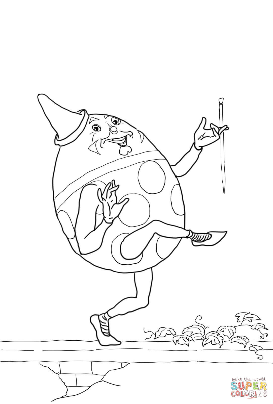 Humpty Dumpty Printable Book Humpty Dumpty Coloring Page