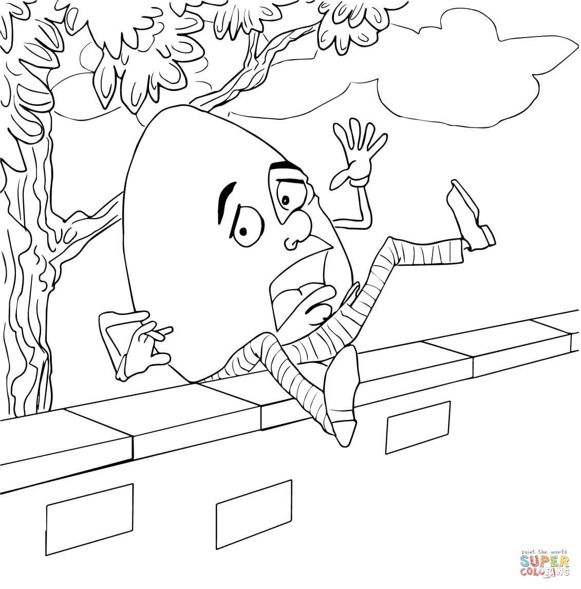 Humpty Dumpty Printable Book Humpty Dumpty Coloring Pages to and Print for Free