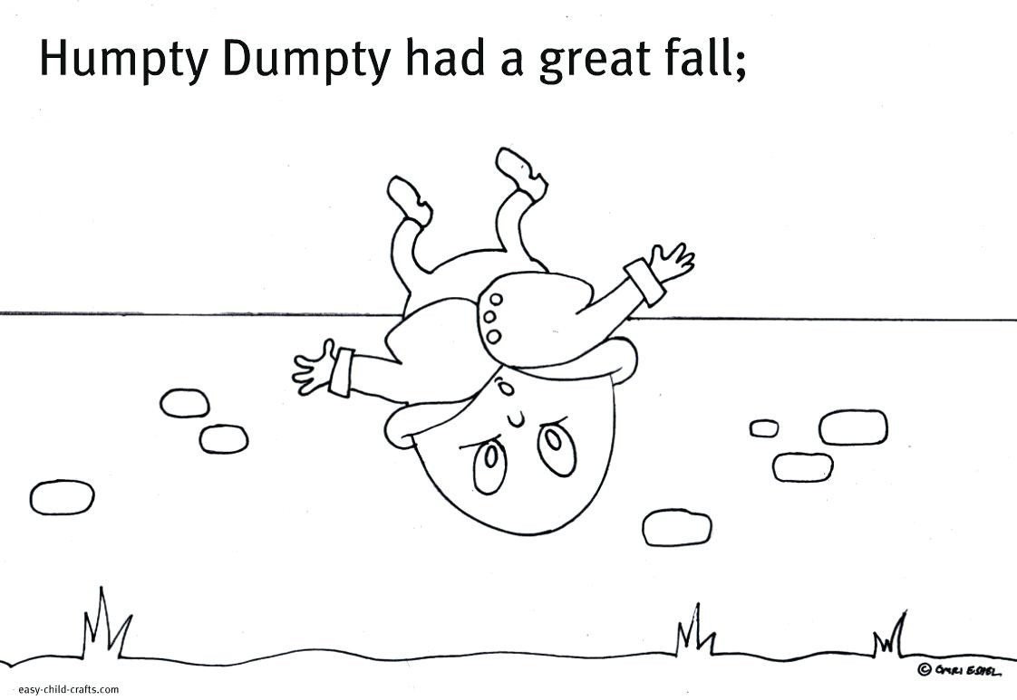 Humpty Dumpty Printable Book Humpty Dumpty Printable top Printable Coloring Pages
