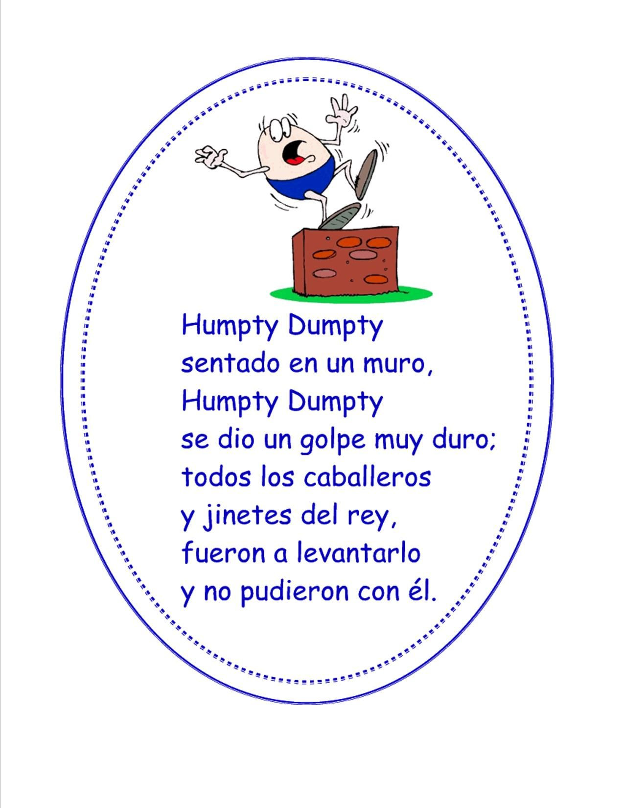 Humpty Dumpty Printable Book Humpty Dumpty Spanish