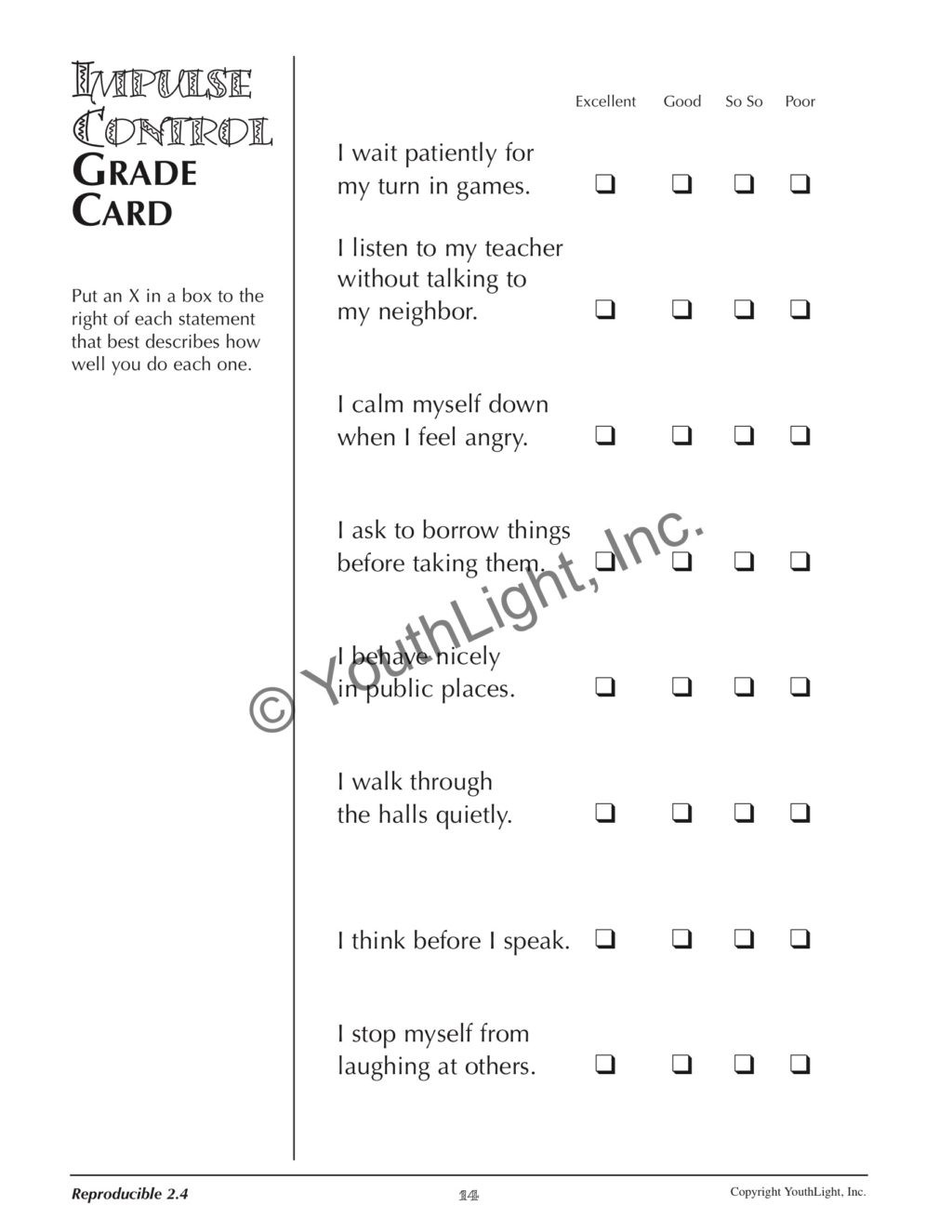Impulse Control Worksheets Printable Worksheet Worksheets for Impulse Control Activities