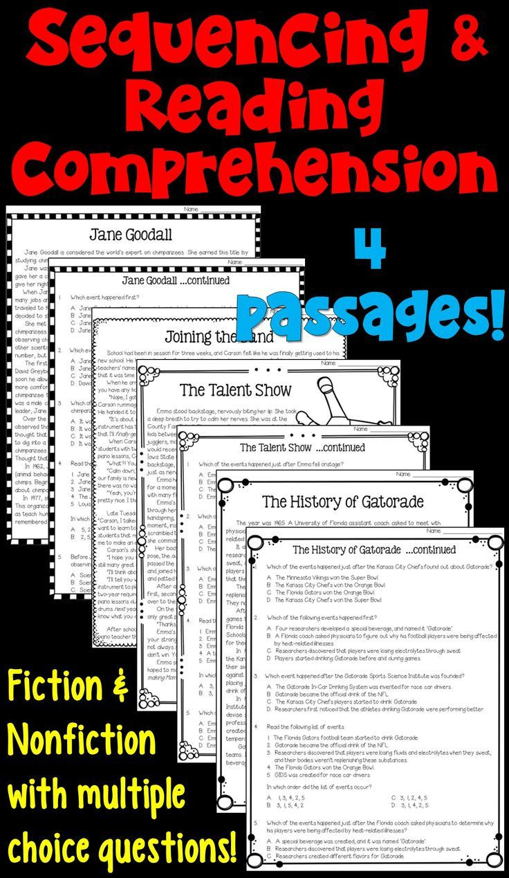 Inference Worksheets 4th Grade Pdf Sequencing Worksheets with Reading Prehension Passages