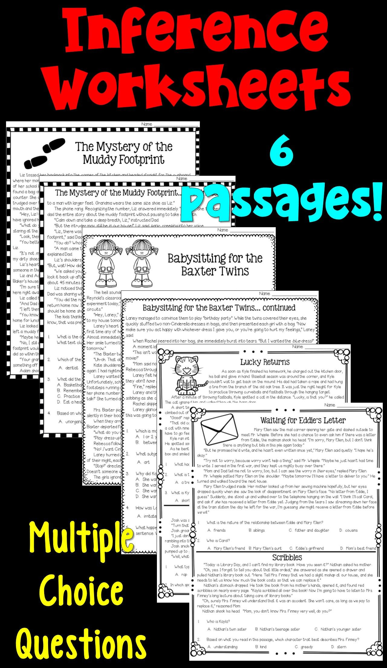 Inferencing Worksheets Grade 4 Inferences Worksheets Pdf and Digital