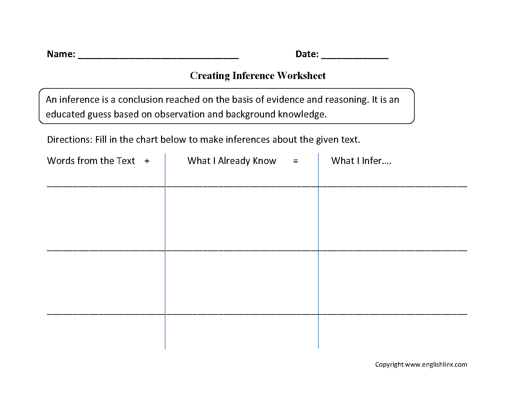 Inferencing Worksheets Grade 4 Making Inferences Worksheets 5th Grade