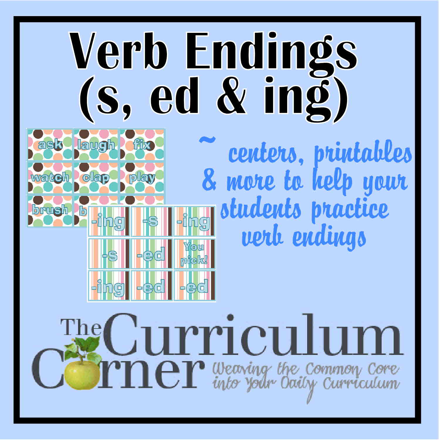 Inflected Endings Worksheets 2nd Grade Verb Endings S Ed Ing the Curriculum Corner 123
