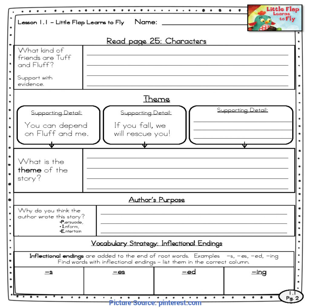 Inflectional Endings Worksheets 2nd Grade Worksheet Briliant Close Reading Lesson Plan 1st Grade 2nd