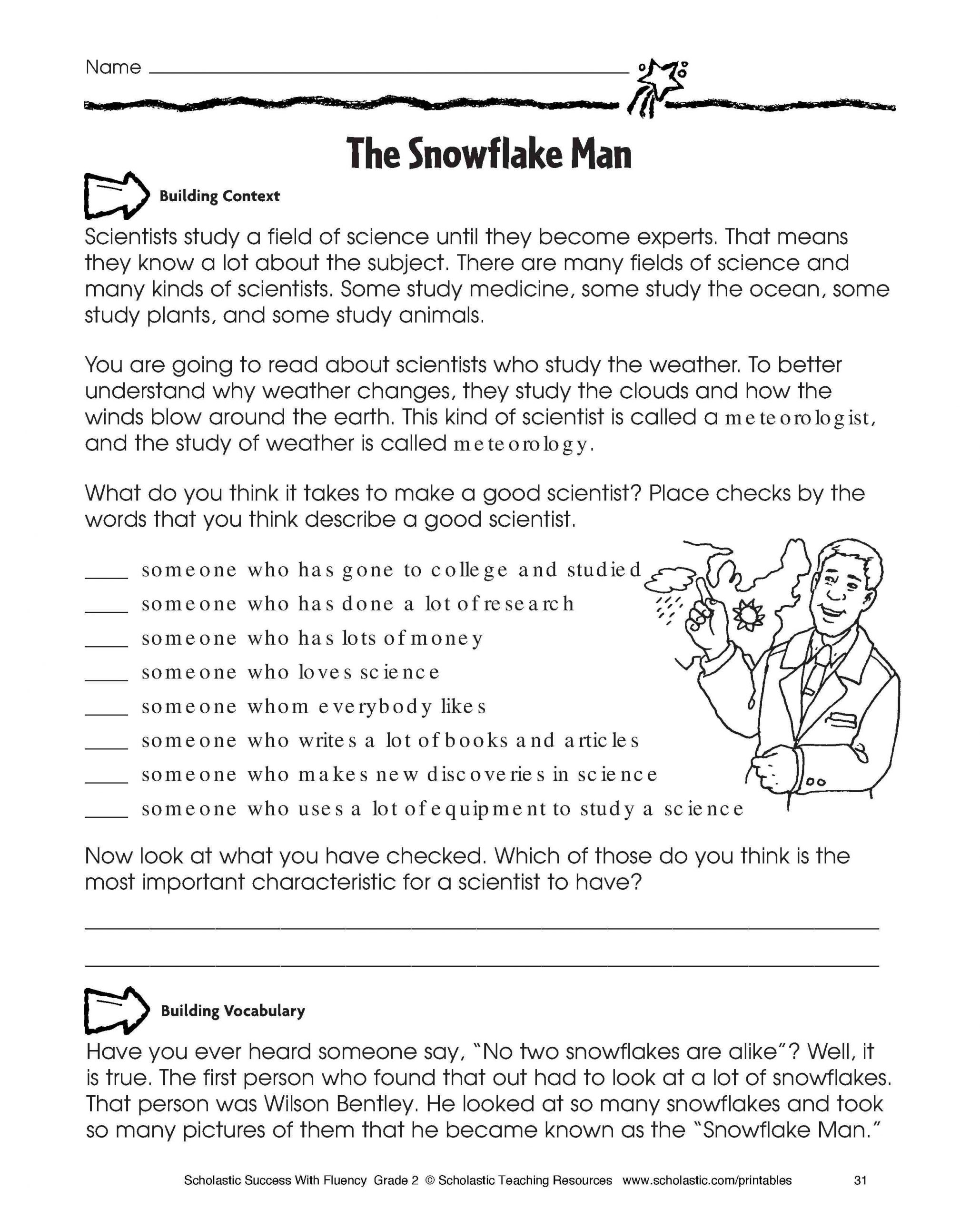 Informational Text Worksheets Middle School Free Reading for Kindergarten