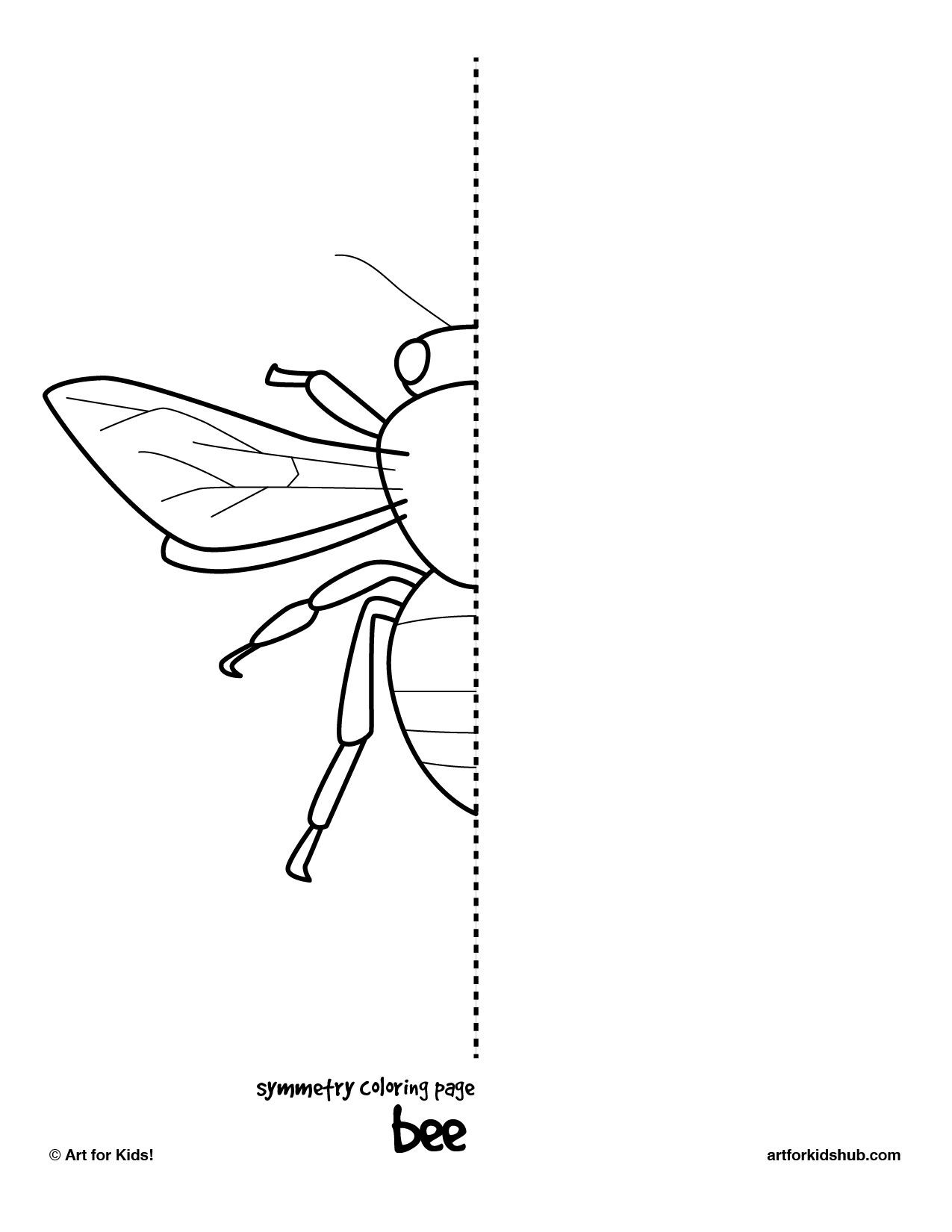 Insect Worksheets for Preschoolers 10 Free Coloring Pages Bug Symmetry Art for Kids Hub