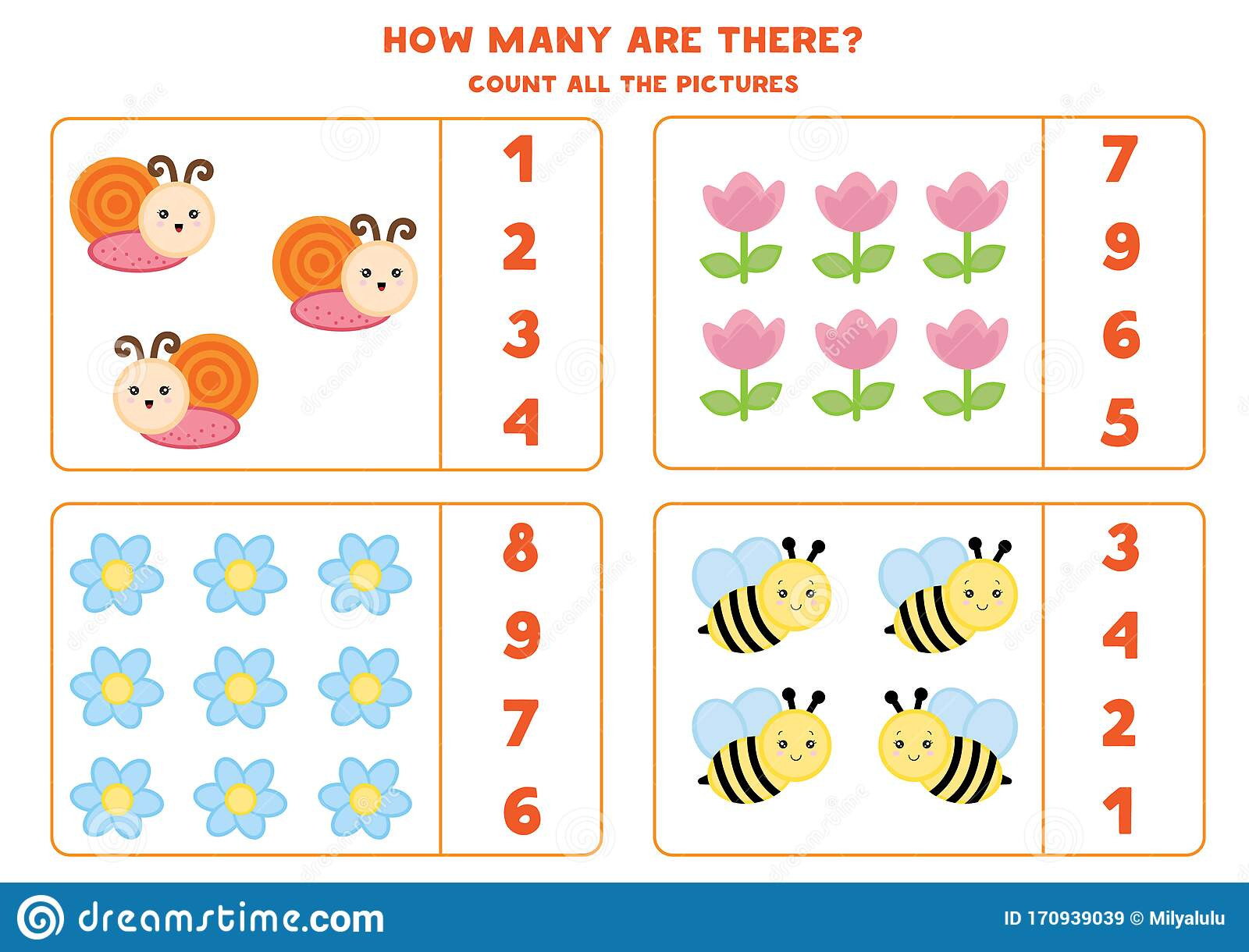 Insect Worksheets for Preschoolers Educational Worksheet for Preschool Kids Count Insects and