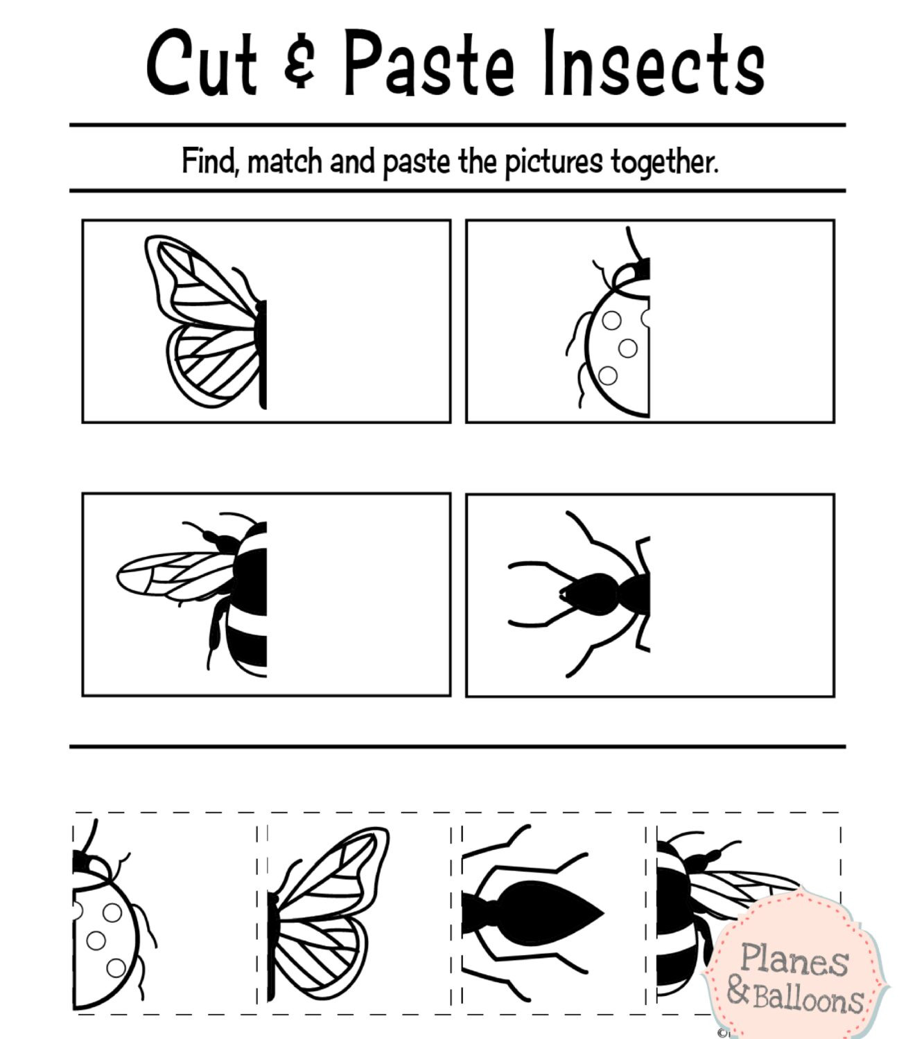 Insect Worksheets for Preschoolers Math Worksheet 42 Printable Activities for Preschoolers