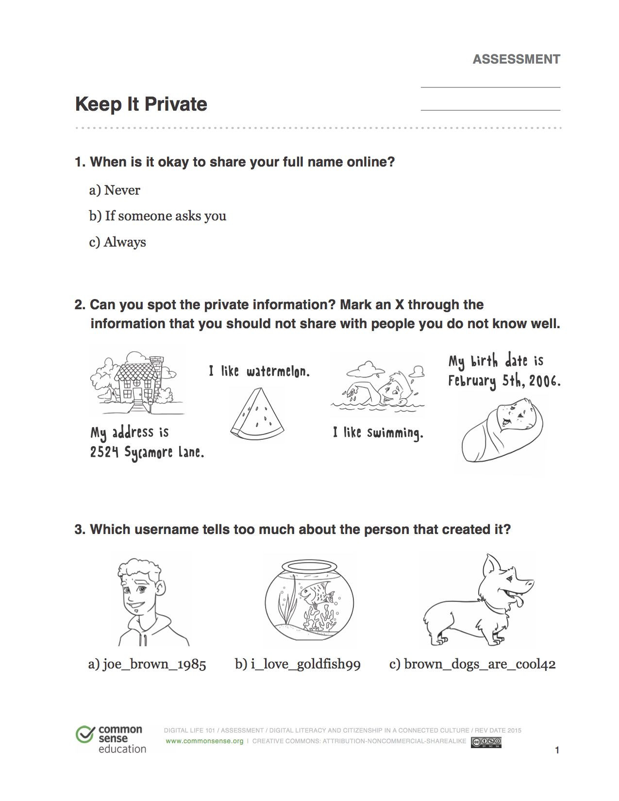 Internet Safety Worksheets Printable Imgur