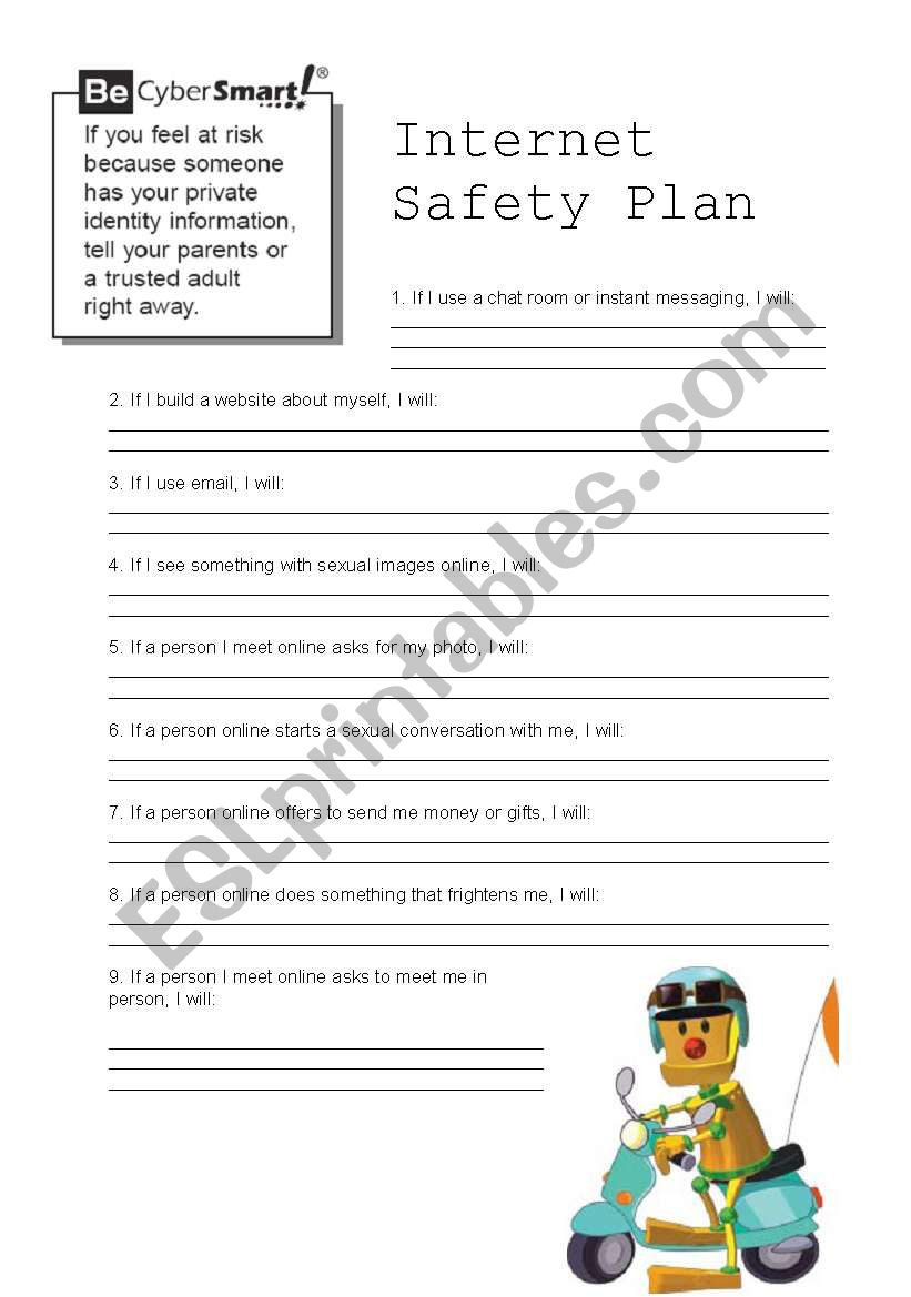 Internet Safety Worksheets Printable Internet Safety 2 4 Esl Worksheet by Doroteia F
