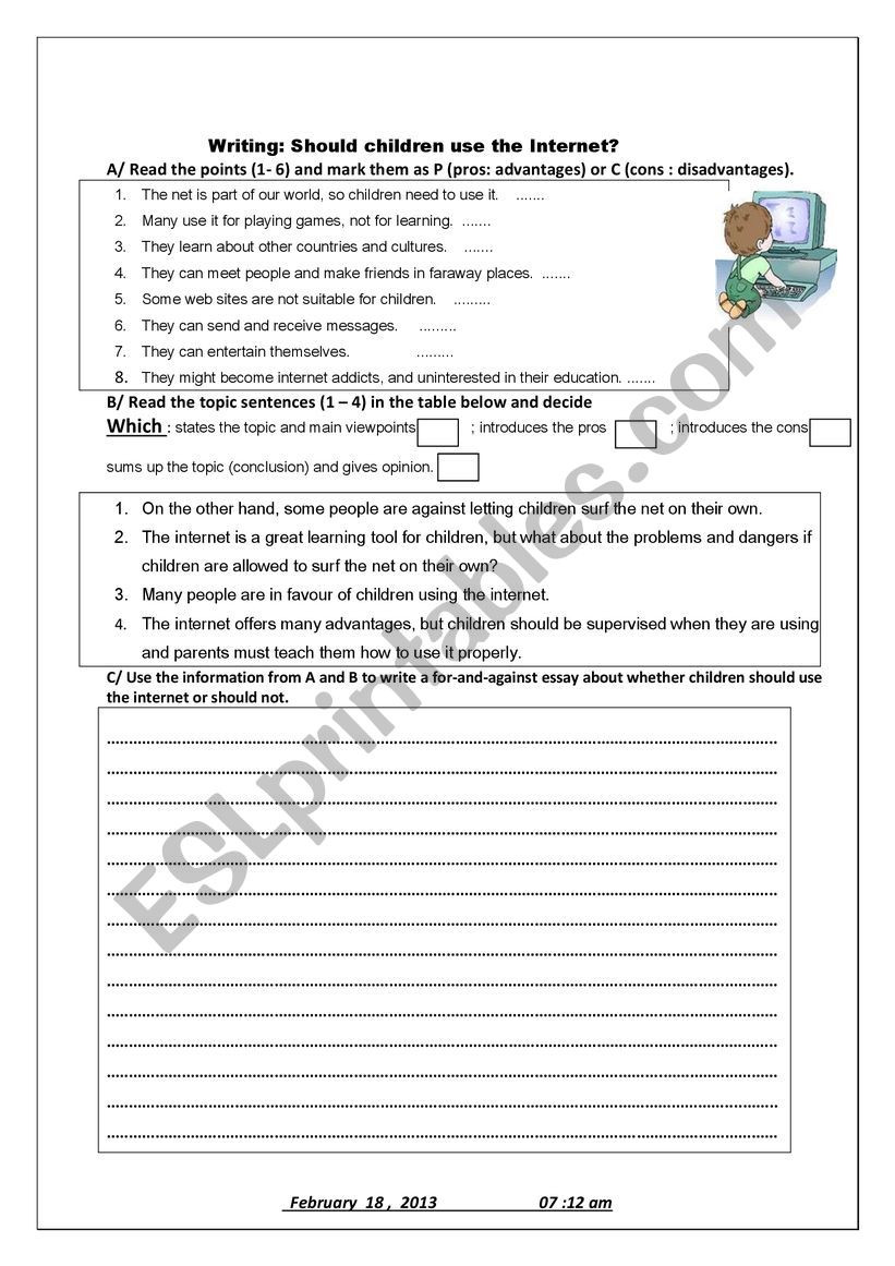 Internet Safety Worksheets Printable Internet Safety Esl Worksheet by Igmillas
