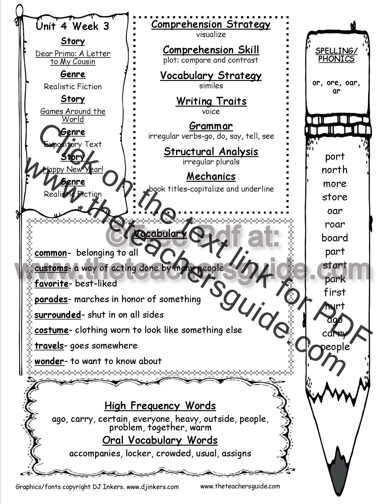 Irregular Verbs Worksheet 2nd Grade Wonders Second Grade Unit Four Week Three Printouts