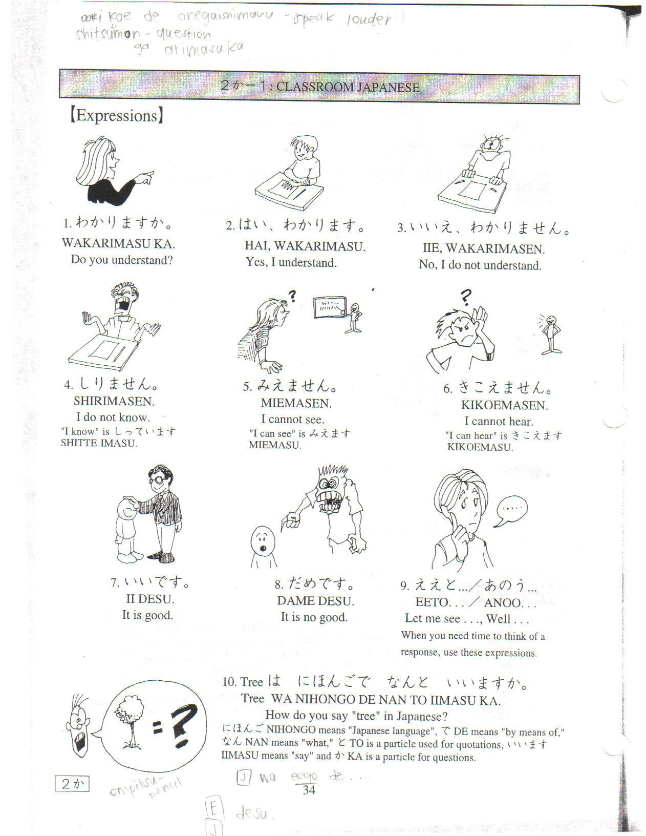 Japanese Worksheets for Beginners Printable Japanese Worksheet