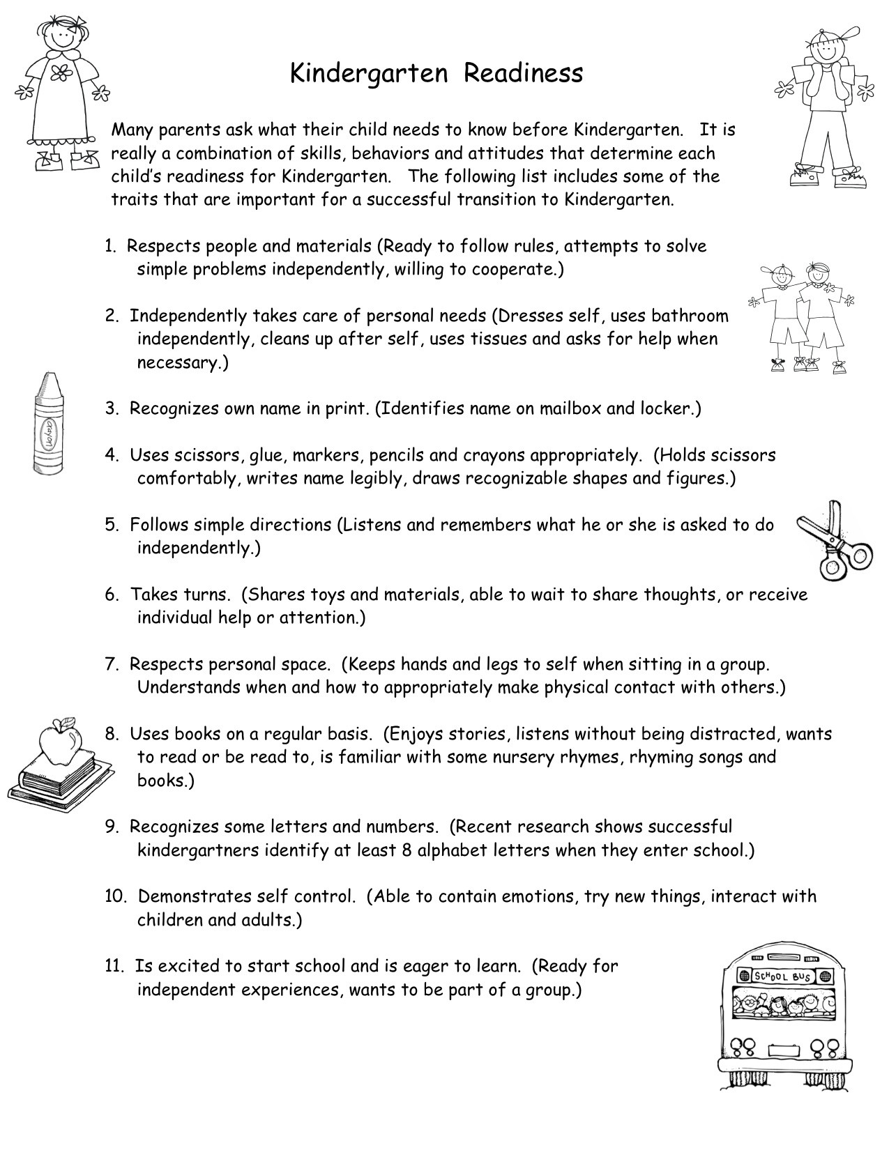 Job Readiness Printable Worksheets School Readiness Worksheets