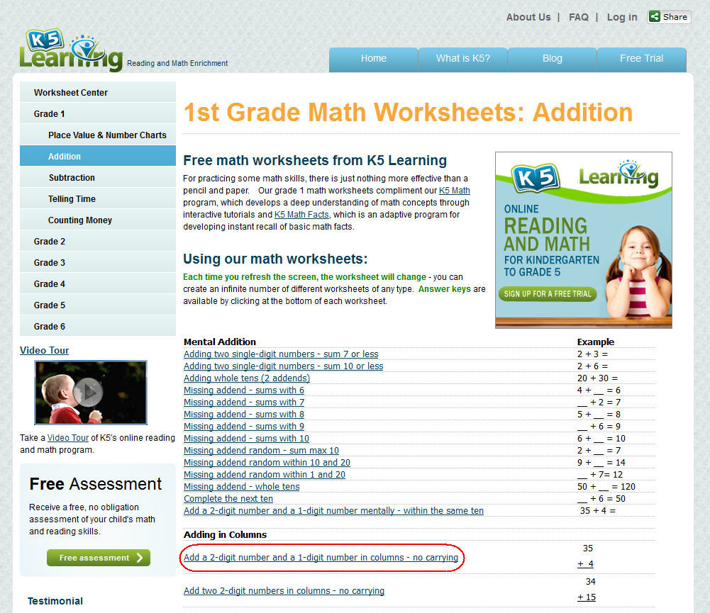K5 Learning Math Grade 4 K5 Learning Launches Free Math Worksheets Center