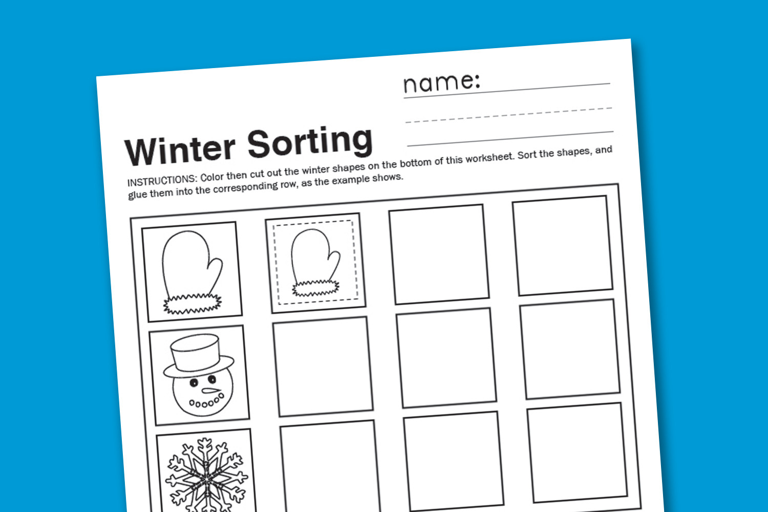 Kindergarten Math sorting Worksheets Winter sorting Worksheet Paging Supermom