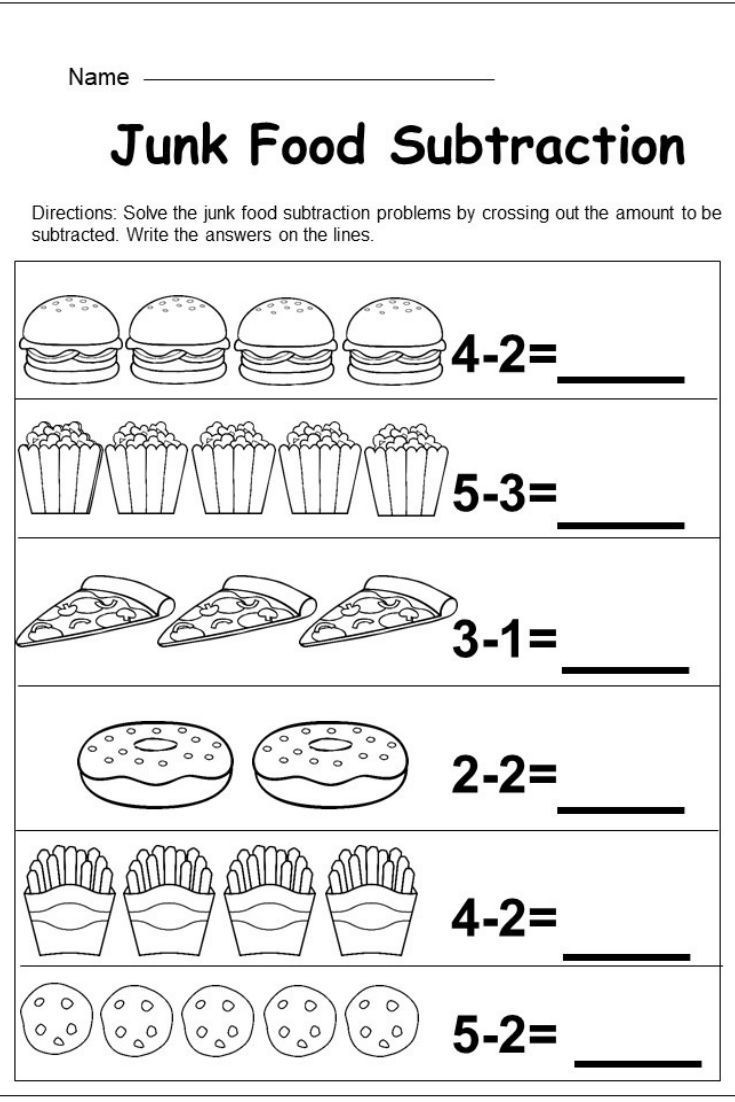 Kindergarten Subtraction Worksheets Free Printable Free Kindergarten Subtraction Worksheet