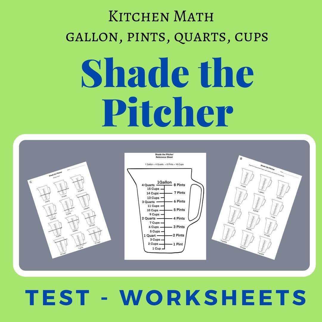 Kitchen Math Worksheets Stephforkknife Posted to Instagram Kitchen Math Worksheets