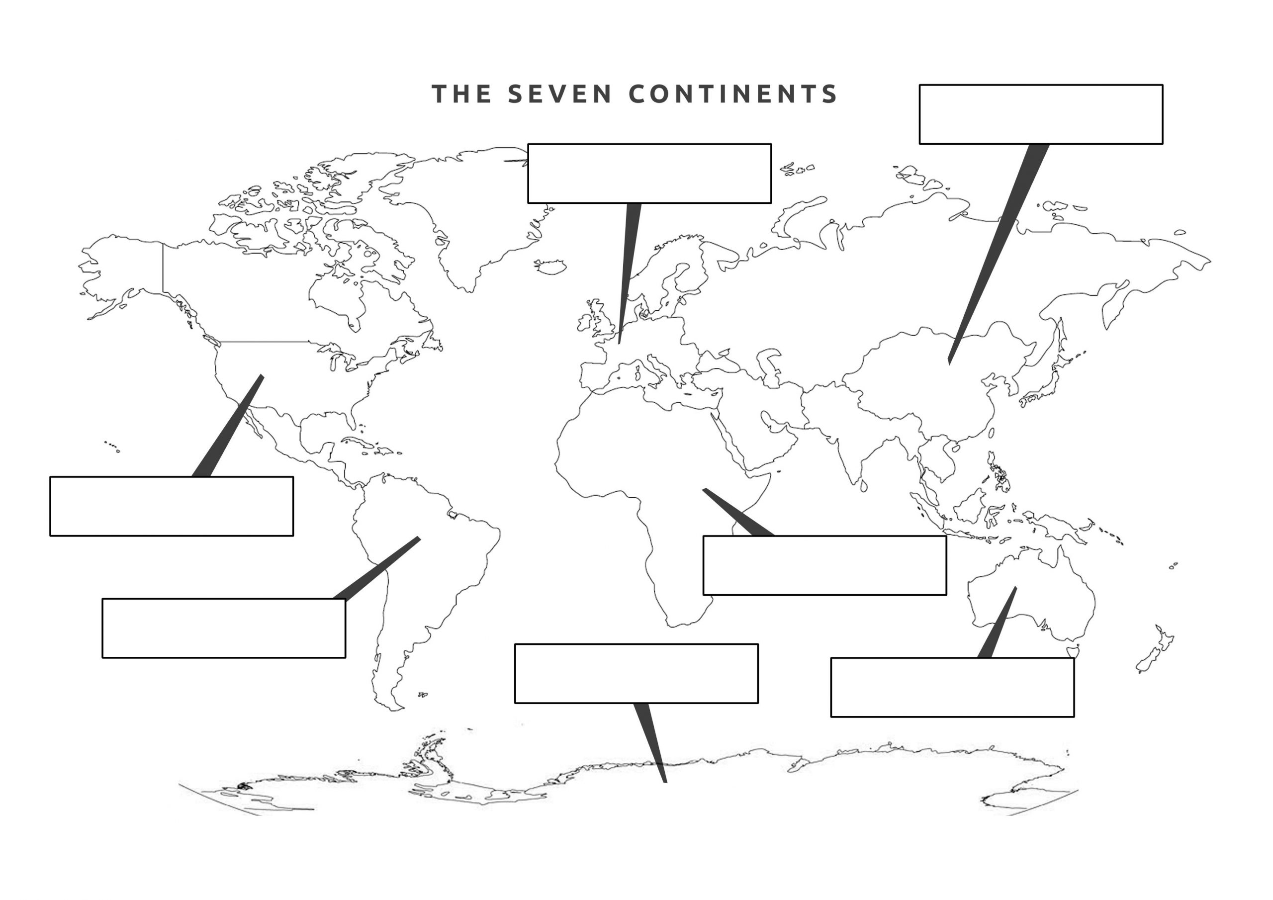 Label Continents and Oceans Printable 38 Free Printable Blank Continent Maps