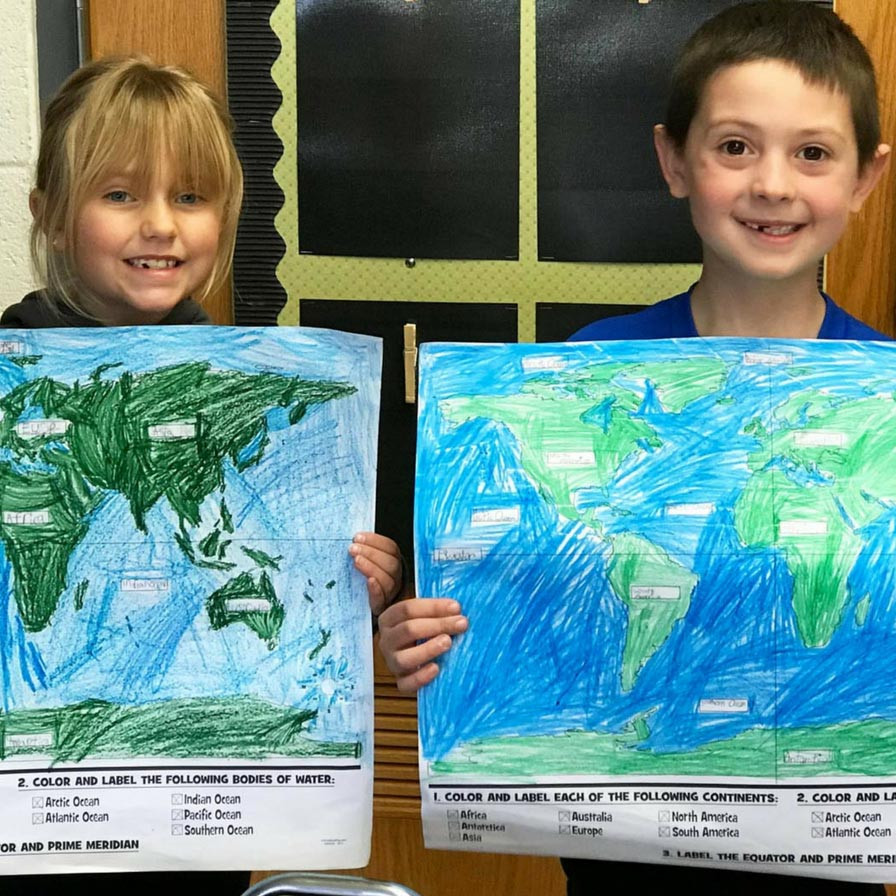 Label Continents and Oceans Printable Teaching Map Skills Continents and Oceans