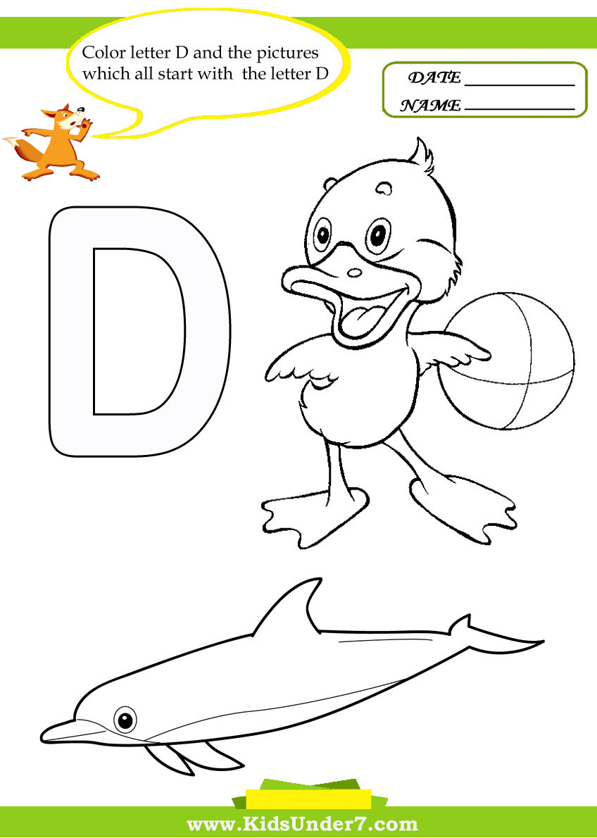 Letter D Worksheet Preschool Kids Under 7 Letter D Worksheets and Coloring Pages