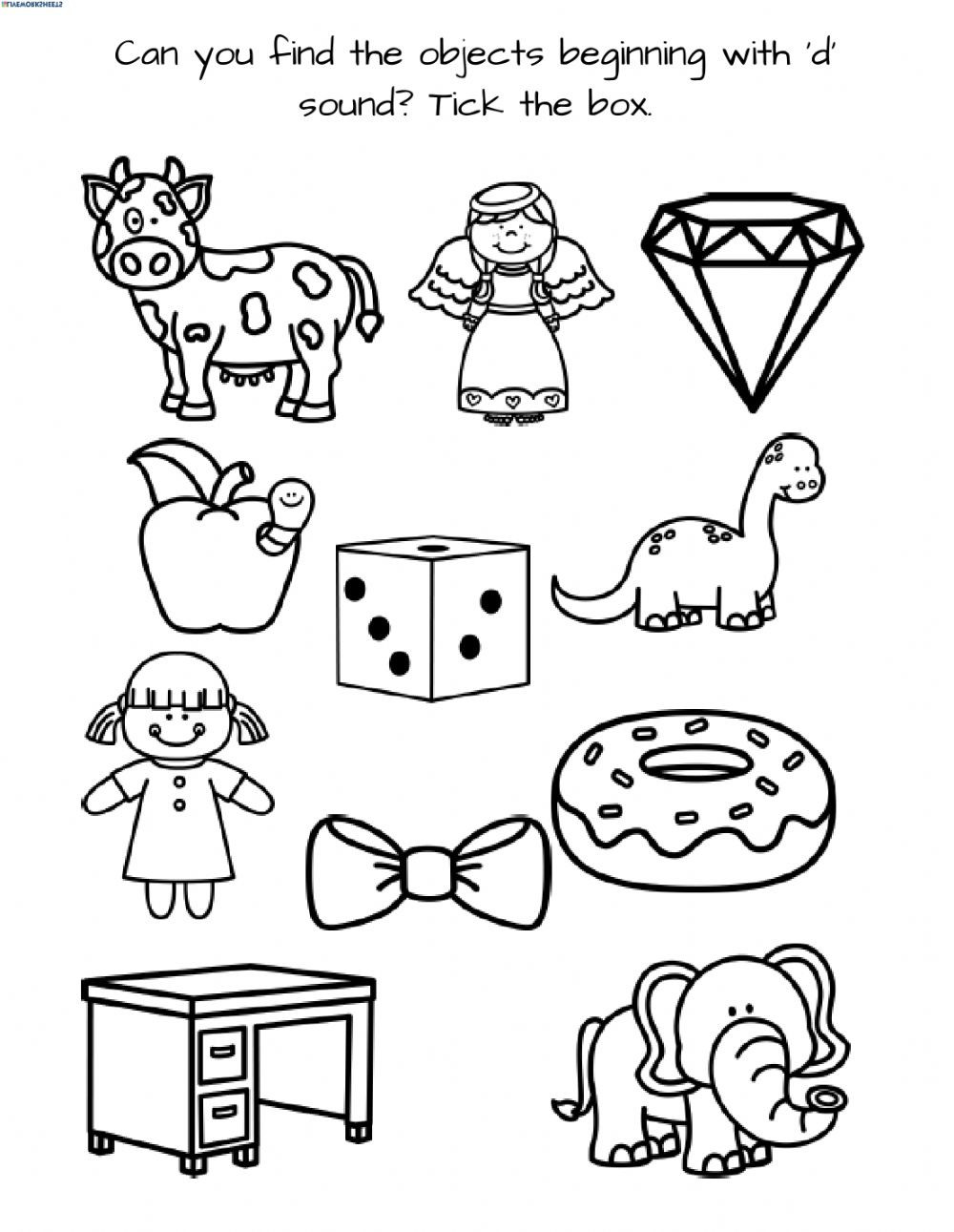 Letter D Worksheet Preschool Letter D 1 Interactive Worksheet