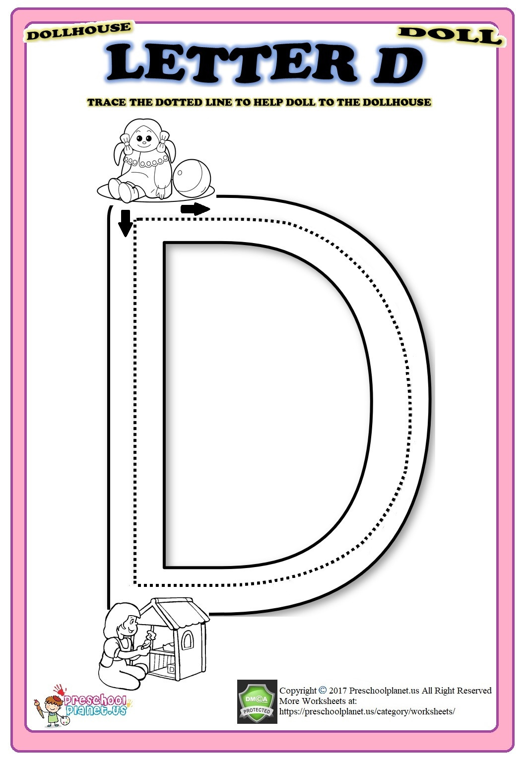 Letter D Worksheet Preschool Letter D Worksheet – Preschoolplanet