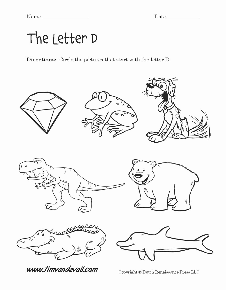Letter D Worksheet Preschool Letter D Worksheets to Print Letter D Worksheets Alphabet