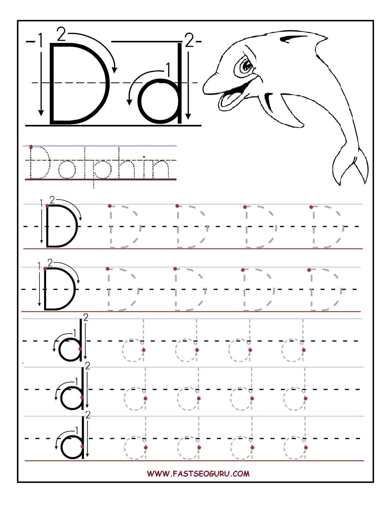 Letter D Worksheet Preschool Preschool Alphabet Worksheets Printables Printable Letter A
