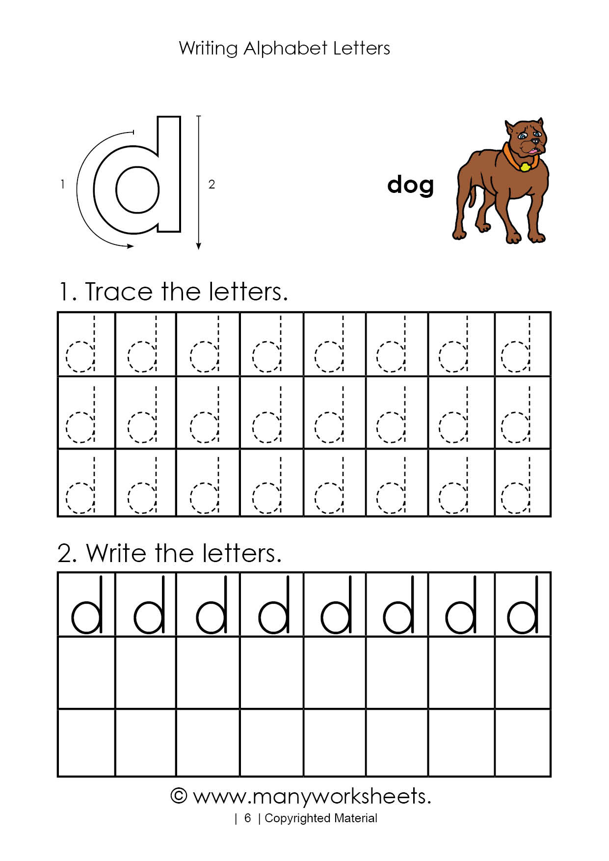 Letter D Worksheet Preschool Tracing Letter D Worksheet for Kindergarten