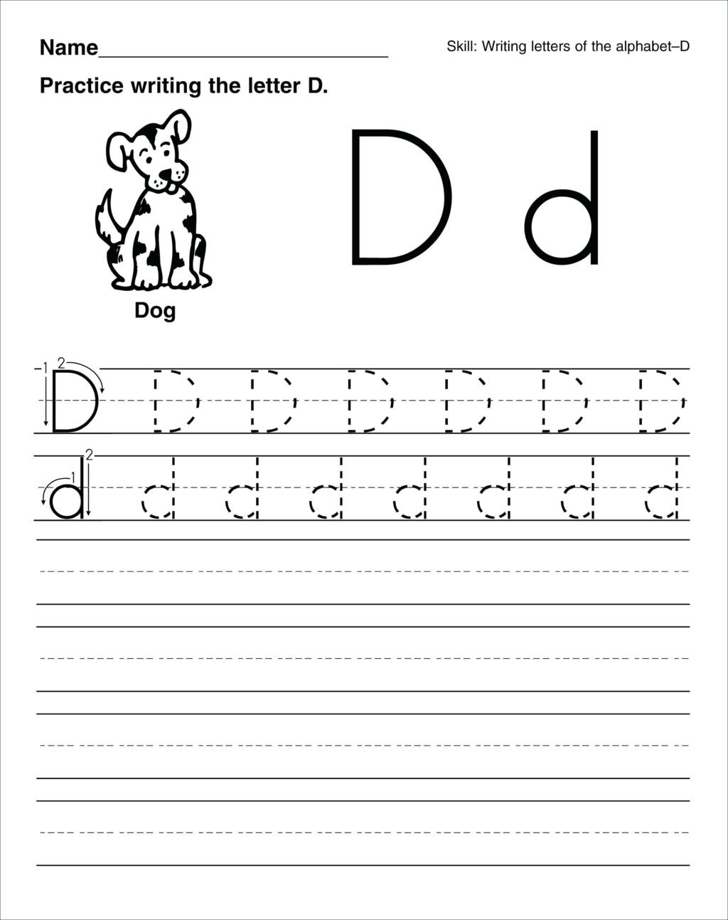 Letter D Worksheet Preschool Worksheet astonishingorksheets for Preschool Free
