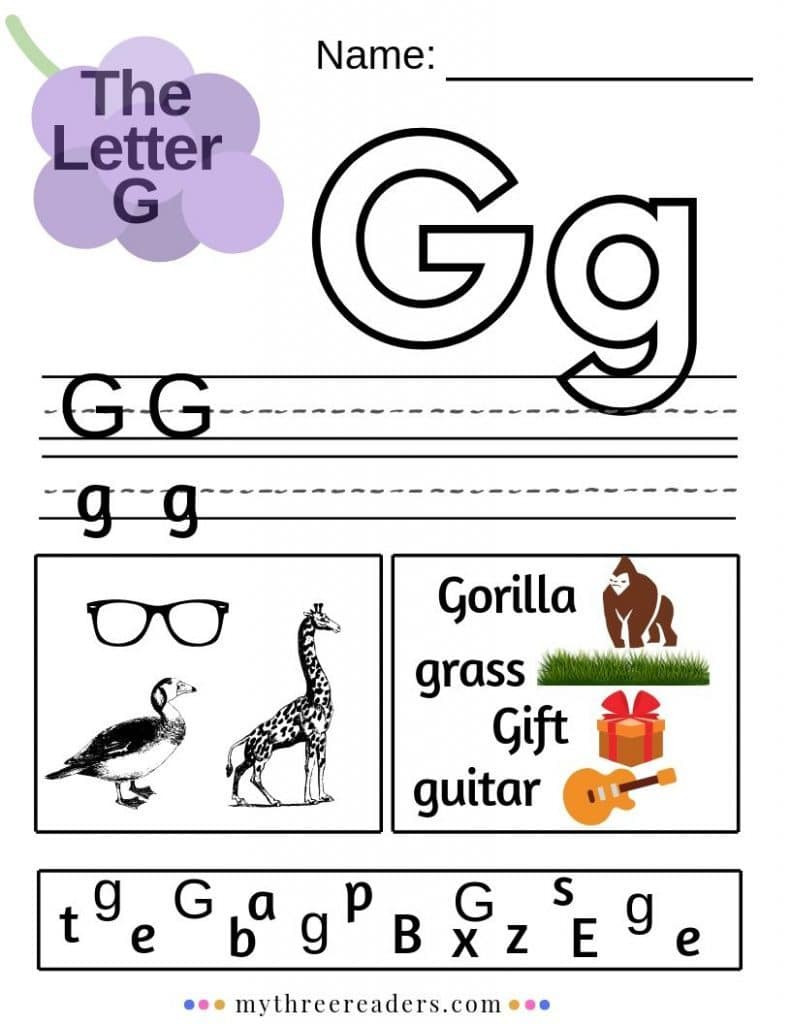 Letter G Worksheet Preschool Free Letter G Worksheets