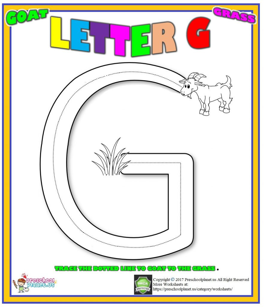 Letter G Worksheet Preschool Letter G Worksheet for Preschool – Preschoolplanet