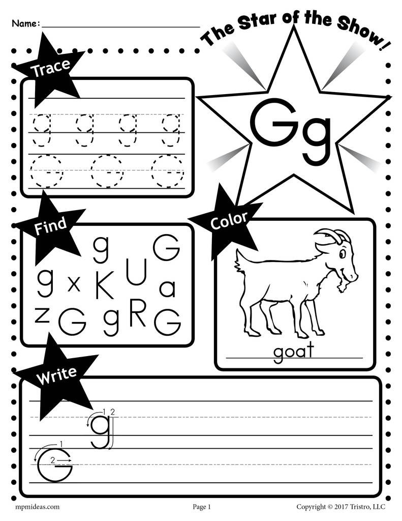 Letter G Worksheets Preschool Letter G Worksheet Tracing Coloring Writing & More