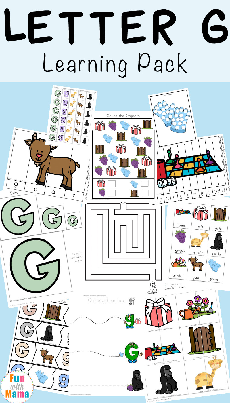 Letter G Worksheets Preschool Letter G Worksheets Fun with Mama